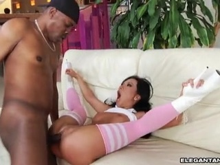 Asa Akira is prick pumped in that guyr socks and this chabels
