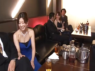 Japanese girl being fucked in Restaurant while chatting