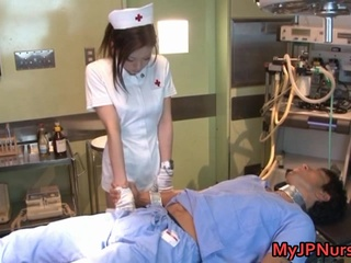 Emi Harukaze Lovely Asian Nurse enjoys