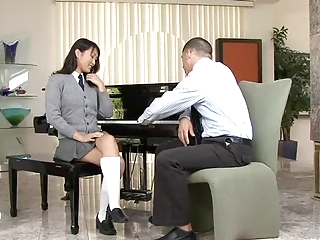 Asian slut sucks and fucks white dick and swallows