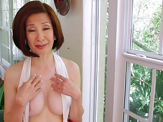 60y Asian Takes 2 Cocks in Her Ass