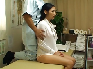 Asian OL fake massage 2