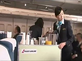 Japan Airlines entertain naked underwear