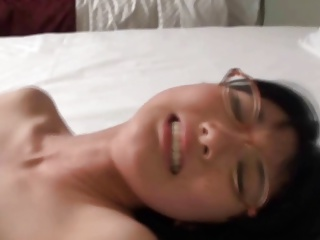 Sweet Asian With Glasses Sucks And Fucks