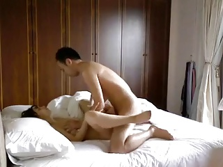 Asian guy tease and fucks his sexy Asian slut.
